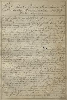 Akta wizytacji klasztorów bernardynek w Wilnie, Grodnie i Brześciu z 1818 r.