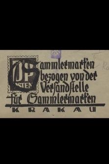 Sammlermarken bezogen von der Verfandstelle für Sammlermaken Krakau