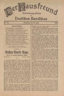Der Hausfreund : Unterhaltungs-Beilage zur Deutschen Rundschau. 1923, Nr. 60 (31 Juli)
