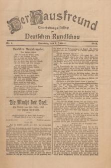 Der Hausfreund : Unterhaltungs-Beilage zur Deutschen Rundschau. 1924, Nr. 1 (1 Januar)