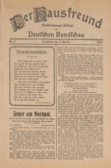Der Hausfreund : Unterhaltungs-Beilage zur Deutschen Rundschau. 1925, Nr. 1 (1 Januar)