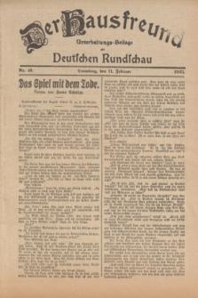 Der Hausfreund : Unterhaltungs-Beilage zur Deutschen Rundschau. 1925, Nr. 19 (11 Februar)