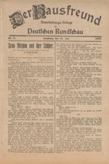 Der Hausfreund : Unterhaltungs-Beilage zur Deutschen Rundschau. 1925, Nr. 71 (14 Mai)