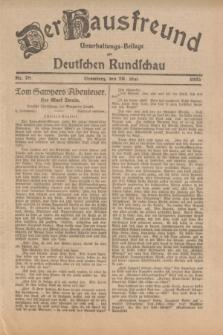 Der Hausfreund : Unterhaltungs-Beilage zur Deutschen Rundschau. 1925, Nr. 78 (26 Mai)