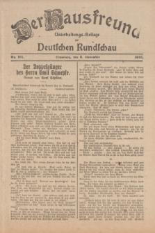 Der Hausfreund : Unterhaltungs-Beilage zur Deutschen Rundschau. 1925, Nr. 191 (6 November)