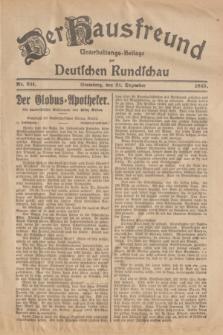 Der Hausfreund : Unterhaltungs-Beilage zur Deutschen Rundschau. 1925, Nr. 231 (31 Dezember)