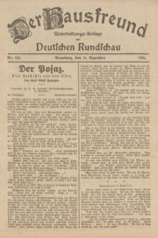 Der Hausfreund : Unterhaltungs-Beilage zur Deutschen Rundschau. 1926, Nr. 242 (14 Dezember)