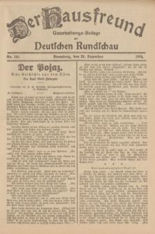 Der Hausfreund : Unterhaltungs-Beilage zur Deutschen Rundschau. 1926, Nr. 245 (21 Dezember)