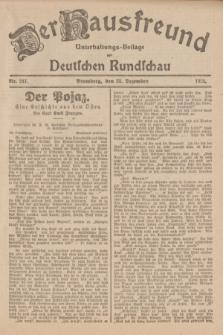 Der Hausfreund : Unterhaltungs-Beilage zur Deutschen Rundschau. 1926, Nr. 247 (23 Dezember)