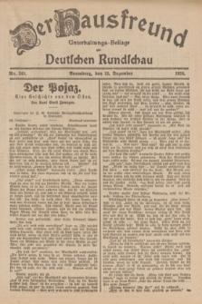 Der Hausfreund : Unterhaltungs-Beilage zur Deutschen Rundschau. 1926, Nr. 248 (25 Dezember)