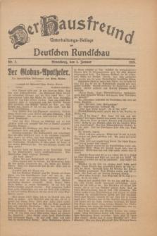 Der Hausfreund : Unterhaltungs-Beilage zur Deutschen Rundschau. 1926, Nr. 2 (5 Januar)