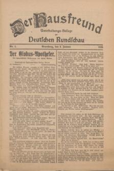 Der Hausfreund : Unterhaltungs-Beilage zur Deutschen Rundschau. 1926, Nr. 5 (9 Januar)