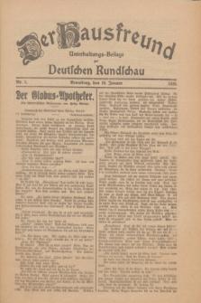 Der Hausfreund : Unterhaltungs-Beilage zur Deutschen Rundschau. 1926, Nr. 6 (10 Januar)