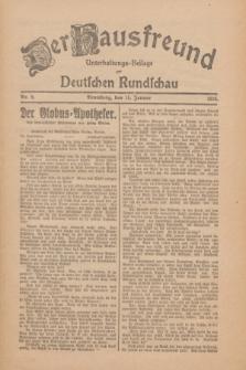 Der Hausfreund : Unterhaltungs-Beilage zur Deutschen Rundschau. 1926, Nr. 9 (14 Januar)