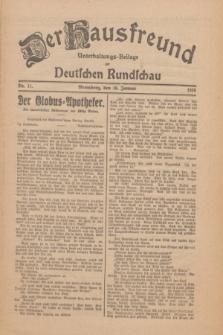Der Hausfreund : Unterhaltungs-Beilage zur Deutschen Rundschau. 1926, Nr. 11 (16 Januar)