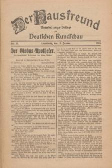 Der Hausfreund : Unterhaltungs-Beilage zur Deutschen Rundschau. 1926, Nr. 12 (19 Januar)