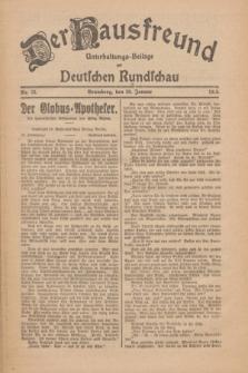 Der Hausfreund : Unterhaltungs-Beilage zur Deutschen Rundschau. 1926, Nr. 13 (20 Januar)