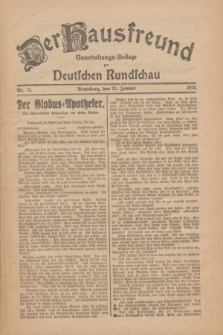 Der Hausfreund : Unterhaltungs-Beilage zur Deutschen Rundschau. 1926, Nr. 14 (21 Januar)