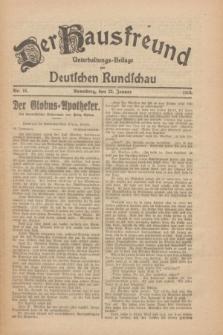 Der Hausfreund : Unterhaltungs-Beilage zur Deutschen Rundschau. 1926, Nr. 16 (23 Januar)