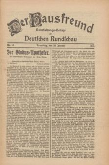 Der Hausfreund : Unterhaltungs-Beilage zur Deutschen Rundschau. 1926, Nr. 18 (26 Januar)