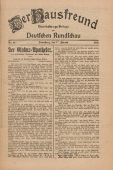 Der Hausfreund : Unterhaltungs-Beilage zur Deutschen Rundschau. 1926, Nr. 19 (27 Januar)