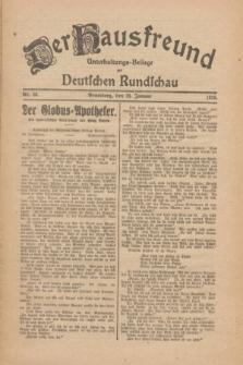 Der Hausfreund : Unterhaltungs-Beilage zur Deutschen Rundschau. 1926, Nr. 20 (28 Januar)