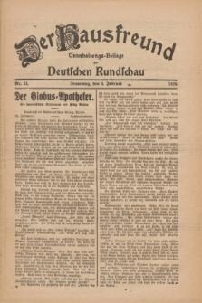 Der Hausfreund : Unterhaltungs-Beilage zur Deutschen Rundschau. 1926, Nr. 24 (4 Februar)