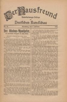Der Hausfreund : Unterhaltungs-Beilage zur Deutschen Rundschau. 1926, Nr. 25 (5 Februar)