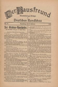 Der Hausfreund : Unterhaltungs-Beilage zur Deutschen Rundschau. 1926, Nr. 28 (9 Februar)