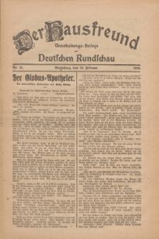 Der Hausfreund : Unterhaltungs-Beilage zur Deutschen Rundschau. 1926, Nr. 29 (10 Februar)