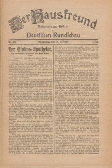 Der Hausfreund : Unterhaltungs-Beilage zur Deutschen Rundschau. 1926, Nr. 30 (11 Februar)