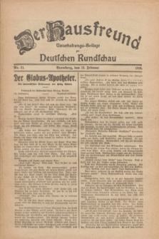 Der Hausfreund : Unterhaltungs-Beilage zur Deutschen Rundschau. 1926, Nr. 31 (12 Februar)