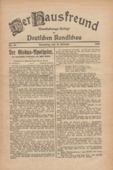 Der Hausfreund : Unterhaltungs-Beilage zur Deutschen Rundschau. 1926, Nr. 32 (13 Februar)