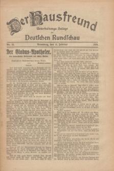Der Hausfreund : Unterhaltungs-Beilage zur Deutschen Rundschau. 1926, Nr. 33 (14 Februar)