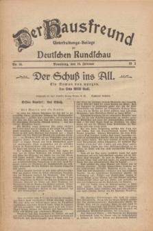 Der Hausfreund : Unterhaltungs-Beilage zur Deutschen Rundschau. 1926, Nr. 34 (16 Februar)