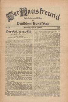 Der Hausfreund : Unterhaltungs-Beilage zur Deutschen Rundschau. 1926, Nr. 36 (19 Februar)