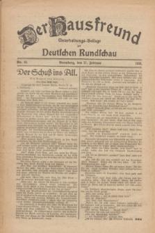 Der Hausfreund : Unterhaltungs-Beilage zur Deutschen Rundschau. 1926, Nr. 42 (27 Februar)