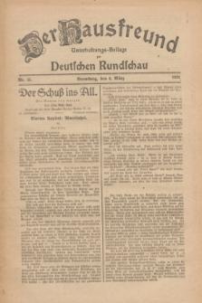 Der Hausfreund : Unterhaltungs-Beilage zur Deutschen Rundschau. 1926, Nr. 45 (4 März)