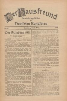 Der Hausfreund : Unterhaltungs-Beilage zur Deutschen Rundschau. 1926, Nr. 47 (9 März)