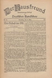 Der Hausfreund : Unterhaltungs-Beilage zur Deutschen Rundschau. 1926, Nr. 49 (12 März)