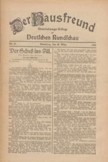 Der Hausfreund : Unterhaltungs-Beilage zur Deutschen Rundschau. 1926, Nr. 54 (20 März)