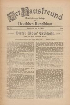 Der Hausfreund : Unterhaltungs-Beilage zur Deutschen Rundschau. 1926, Nr. 57 (26 März)