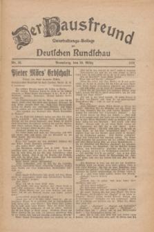 Der Hausfreund : Unterhaltungs-Beilage zur Deutschen Rundschau. 1926, Nr. 59 (30 März)