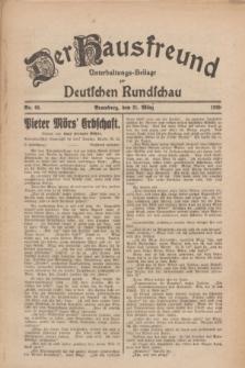 Der Hausfreund : Unterhaltungs-Beilage zur Deutschen Rundschau. 1926, Nr. 60 (31 März)
