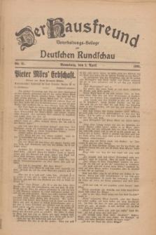 Der Hausfreund : Unterhaltungs-Beilage zur Deutschen Rundschau. 1926, Nr. 61 (2 April)