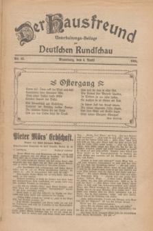 Der Hausfreund : Unterhaltungs-Beilage zur Deutschen Rundschau. 1926, Nr. 62 (4 April)