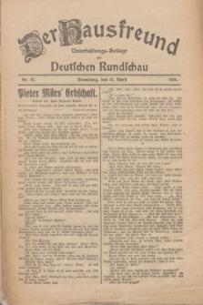 Der Hausfreund : Unterhaltungs-Beilage zur Deutschen Rundschau. 1926, Nr. 67 (14 April)