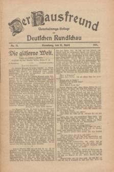 Der Hausfreund : Unterhaltungs-Beilage zur Deutschen Rundschau. 1926, Nr. 74 (24 April)
