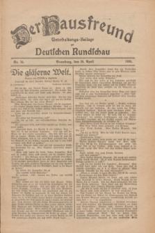 Der Hausfreund : Unterhaltungs-Beilage zur Deutschen Rundschau. 1926, Nr. 76 (28 April)
