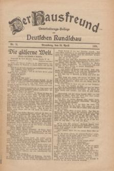 Der Hausfreund : Unterhaltungs-Beilage zur Deutschen Rundschau. 1926, Nr. 78 (30 April)